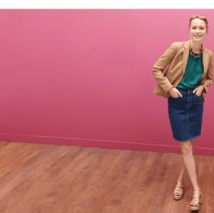J. Crew Pencil Denim Skirt size 29 size 8 NWT